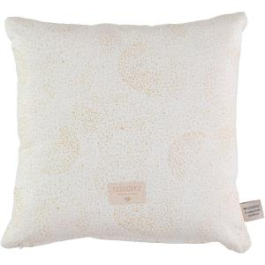 Nobodinoz - N100470 - Coussin Descartes 38x38 cm gold bubble - white (389460)