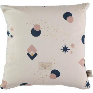 Nobodinoz - N100586 - Coussin Descartes 38x38 cm night blue eclipse - natural (389480)