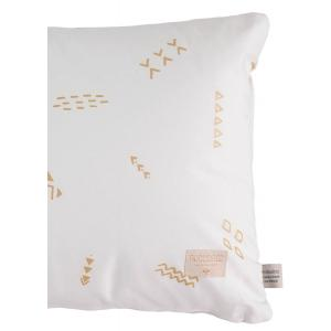 Nobodinoz - N100630 - Coussin Pythagore 40x60 cm gold secrets - white (389498)