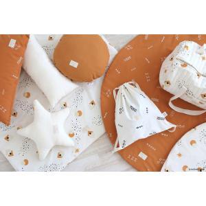 Nobodinoz - N100326 - Coussin étoile Aristote 40cm white (389584)