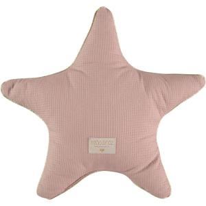Nobodinoz - N100357 - Coussin étoile Aristote 40cm misty pink (389590)