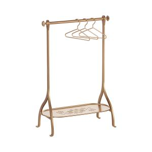 Maileg - 11-7211-05 - Clothes Rack - Gold, incl. 3 hangers (390918)