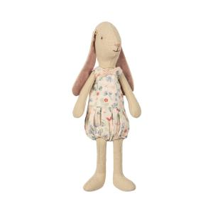 Maileg - 16-8125-01 - Mini light bunny, Flower suit - Rose   - Taille 22 cm - de 0 à 36 mois (391904)
