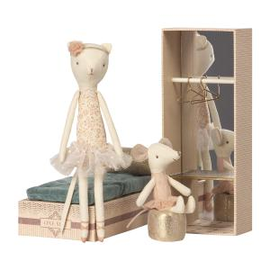Maileg - 16-8601-00 - Dancing cat & mouse in shoebox - Taille 28 cm - de 0 à 36 mois (391918)