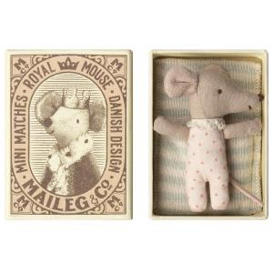 Maileg - 16-8712-01 - Baby mouse, Sleepy/wakey in box - Girl (391926)