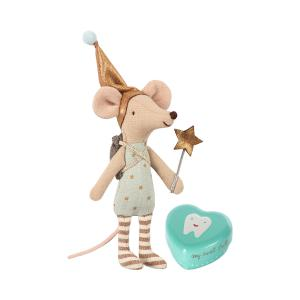 Maileg - 16-8731-01 - Tooth fairy, Big brother mouse w. metal box - Taille 12 cm - de 0 à 36 mois (391946)
