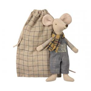 Maileg - 16-8744-00 - Winter mouse, father in bag (391974)