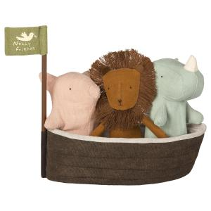 Maileg - 16-8956-00 - Noah`s Ark with 3 mini animals - Taille 22 cm - de 0 à 36 mois (392064)
