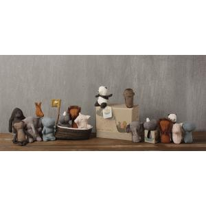 Maileg - 16-8956-00 - L'ache de Noah avec 3 mini animaux, Noah's Friends -  22 cm (392064)
