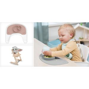 Stokke - 538902 - Set de table et bol (tablette Tripp Trapp) Rose (392510)
