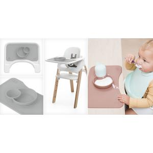 Stokke - 539001 - Set de table et bol (tablette Steps) Gris (392512)