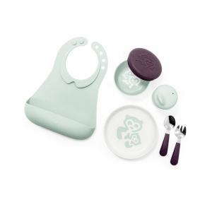 Stokke - 529701 - Coffret repas Complet menthe douce (coupelle, tasse, assiette, fourchette, cuillère et bavoir) (392518)