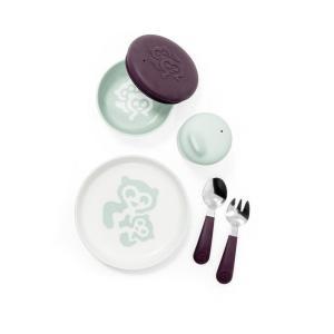 Stokke - 529901 - Munch - Coffret repas Everyday menthe douce (Coupelle, tasse, assiette, fourchette et cuillère) (392520)