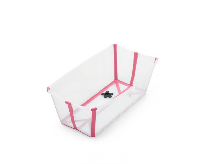 Stokke Baignoire Pliante Flexi Bath Blanc Avec Bouchon De Vidange Reactif A La Chaleur