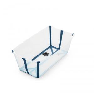 Stokke - 531904 - Baignoire pliante Flexi Bath® transparente bleu (avec bouchon de vidange réactif à la chaleur) (392534)