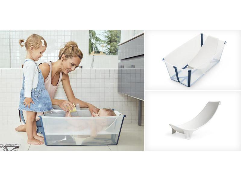 Stokke Baignoire Pliante Flexi Bath Blanc Avec Bouchon De