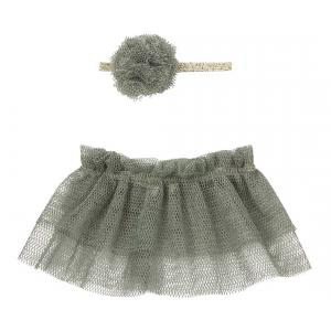 Maileg - 16-8126-00 - Tutu & hairband for Mini - Petrol (392580)