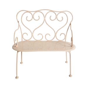 Maileg - 11-4200-02 - Romantic Bench, Mini - Powder (392582)