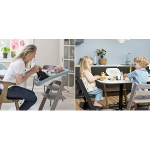 Stokke - BU137 - Pack chaise TRIPP TRAPP Chêne Noir avec Baby Set et tablette (392596)