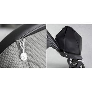 Stokke - BU148 - Pack poussette Stokke® Xplory® V6  Argent, poignée noir, nacelle et siège Noir - siège auto Izigo Modular (392618)