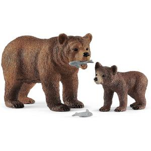 Schleich - 42473 - Maman grizzly avec ourson (392734)