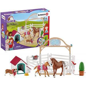 Schleich - 42458 - Horse Club chevaux invités d'Hannah avec chienne Ruby (392766)