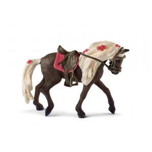 Schleich - 42469 - Figurine Jument Rocky Mountain Horse Spectacle équestre - Dimension : 15 cm x 8,2 cm x 18 cm (392804)