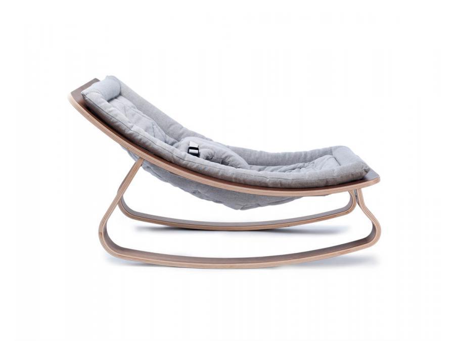 charlie crane transat levo noyer coussin rayures sweet grey. Black Bedroom Furniture Sets. Home Design Ideas