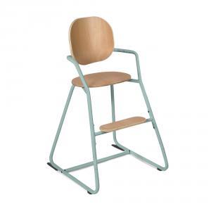 Charlie crane - TIBUTODBLUE - Chaise haute TIBU Bleu, assise hêtre naturel (393076)