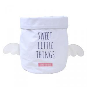 Little Crevette - SWVPg - Panier de rangement gris Sweet Dreams (393196)