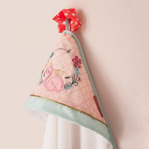 Little Crevette - JACB - Cape de bain 75x75 cm Flamant rose (393302)