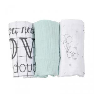 Little Crevette - DOLA - Lot de 3 langes Doudou (393482)