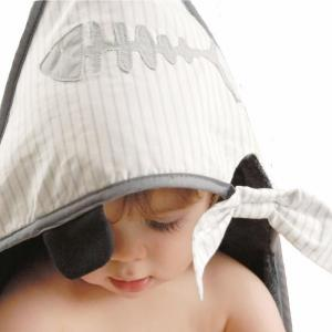 Little Crevette - PICBg - Cape de bain 75x75 cm Pirate grise (393530)