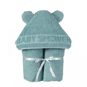 Little Crevette - BSCBv - Sortie de bain  BabyShower vert (393538)