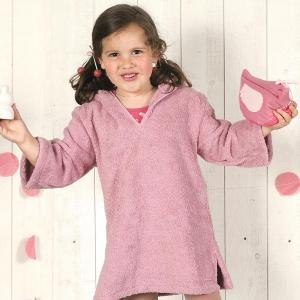Little Crevette - BSPOr2 - Poncho 4/5 ans BabyShower rose (393542)