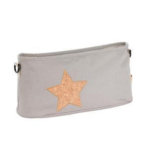Lassig - 1107002209 - Organiseur poussette Liège étoile gris clair (393800)