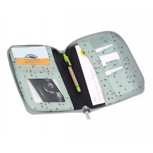 Lassig - 1106010556 - Pochette carnet de santé Floral menthe (393826)