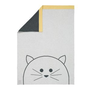 Lassig - 1542005108 - Couverture coton bio GOTS Little Chums Chat, 75x100 cm (393962)