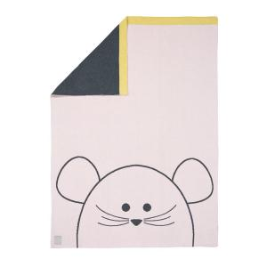 Lassig - 1542001725 - Couverture coton bio Little Chums Souris, 75x100 cm (393964)