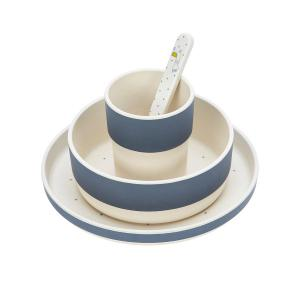 Lassig - 1310018435 - Coffret repas bambou Glama Lama bleu (394204)