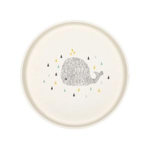Lassig - 1310014452 - Assiette bambou Little Water Baleine (394240)