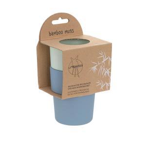 Lassig - 1310022929 - Lot 2 tasses bambou menthe/myrtille (394248)