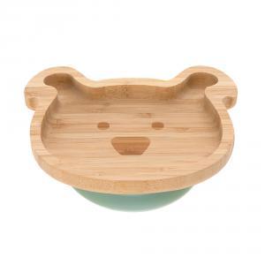 Lassig - 1310028524 - Assiette en bois de bambou Little Chums Chien (394262)