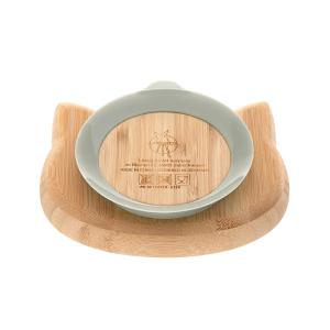 Lassig - 1310028108 - Assiette en bois de bambou Little Chums Chat (394264)