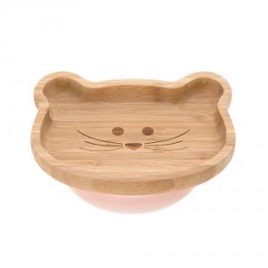 Lassig - 1310028725 - Assiette en bois de bambou Little Chums Souris (394266)