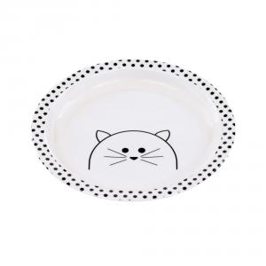 Lassig - 1310009108 - Assiette mélamine/silicone Little Chums Chat (394370)