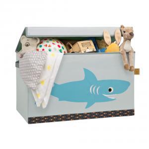 Lassig - LTT127 - Coffre à jouets souple Requin (394722)