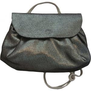 La Cartablière - SACPLNN - Sac Accordéon - Noir Onyx avec bandoulière cuir (394824)