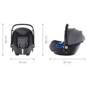 Britax Roemer - 2000029709 - Pack siège-auto bébé BABY-SAFE² i-Size avec BASE FLEX Storm Grey (397072)