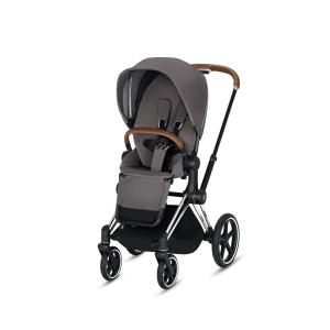 Cybex - BU169 - Poussette Priam 2019  Alu-marron Manhattan Grey (398068)